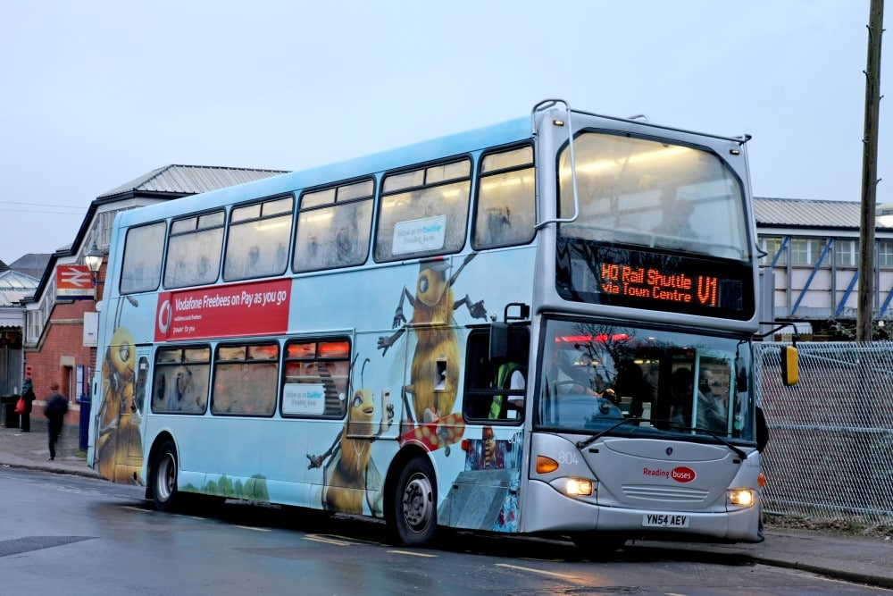 """You'll be pleased to know that your 100% success rate is intact – we have been awarded the Vodafone contract!""  Reading Buses"