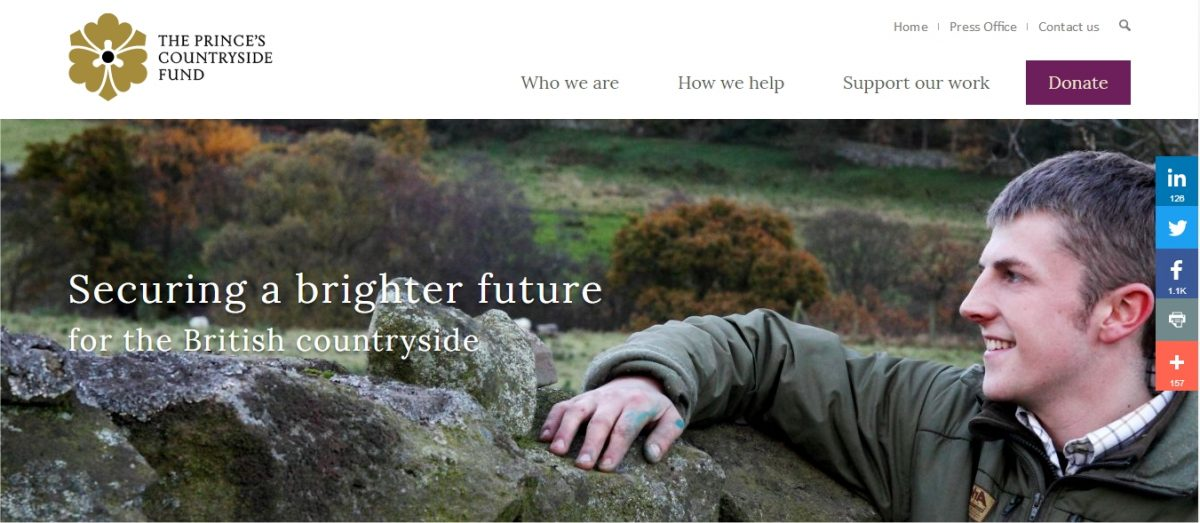 Winning Tenders help with funding application to The Prince's Countryside Trust