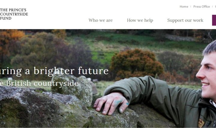 the princes countryside fund webpage